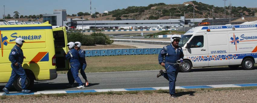 SEMESUR ASSISTANCE makes a great deployment of human and technical means to guarantee the best medical assistance in the Jerez Circuit.
